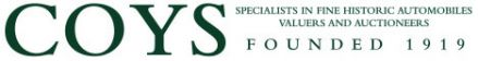 COYS - Specialists in fine Historic Automobiles Auctioneers